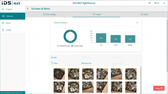 IDS NXT lighthouse - categorise image data with labels