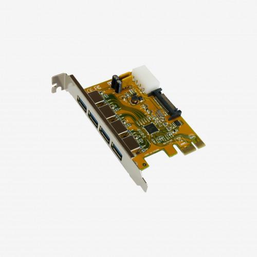 USB 3 PCI Express卡,四口(EX-11094)
